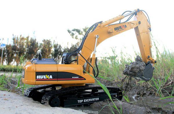 Full Metal RC Excavator. (1/16 Remote Control DieCast Excavator Scale Model)
