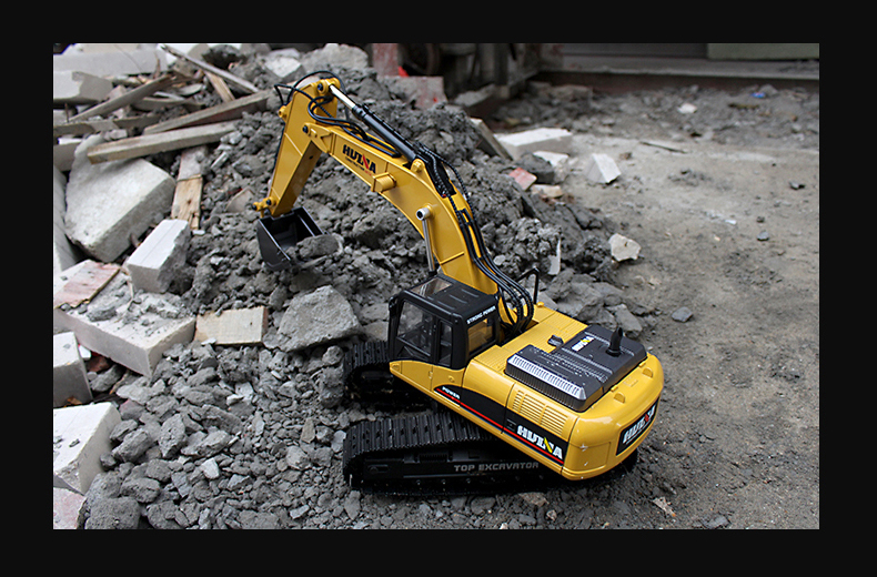 Full Metal RC Excavator. (1/16 Remote Control DieCast Excavator Scale Model)
