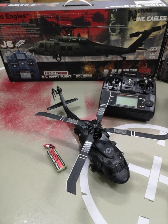RTF Nine Eagles Solo Pro 319a UH-60 Blackhawk Realistic RC Helicopter
