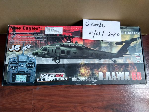 RTF Nine Eagles SoloPro 319 B HAWK 60 UH-60 Blackhawk Realistic RC Helicopter 4-Blades Flybarless 6CH 3D RC Helicopter