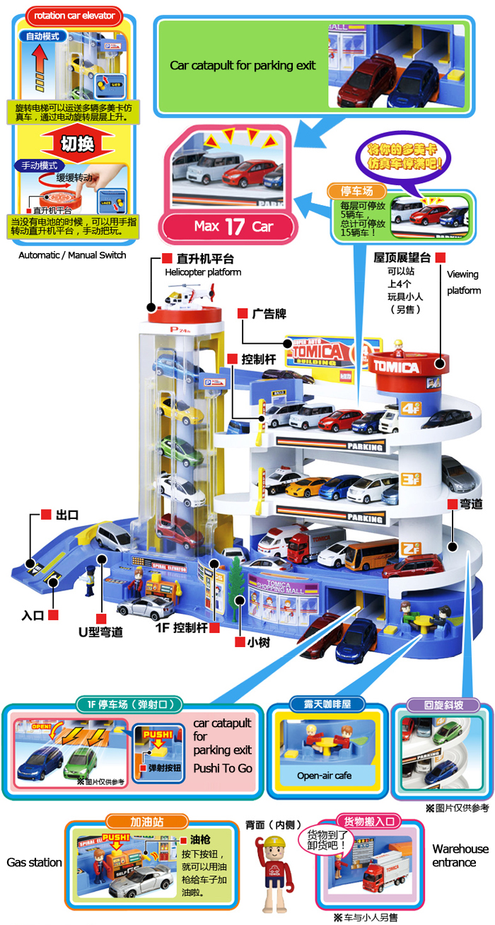 Takara Tomy & Tomica Super Auto Car Parking Garage Building Set