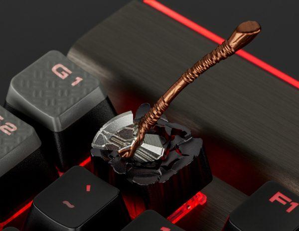 Thor's Stormbreaker Axe Custom Metal Keycap, Backlit Keycap, Artisan Keycap For Cherry MX Switch Mechanical Keyboard