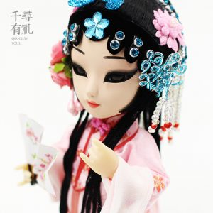 Xiangjun Li Silk Doll, Chinese Traditional Crafts Gifts, Kunqu Opera Action Figures Handicraft Silk Figurines