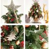 17in, 23in, 37in, 3ft, Pre-Lit Small Artificial Christmas Trees For Desktop Decor, Home Decor, Garden Decoration