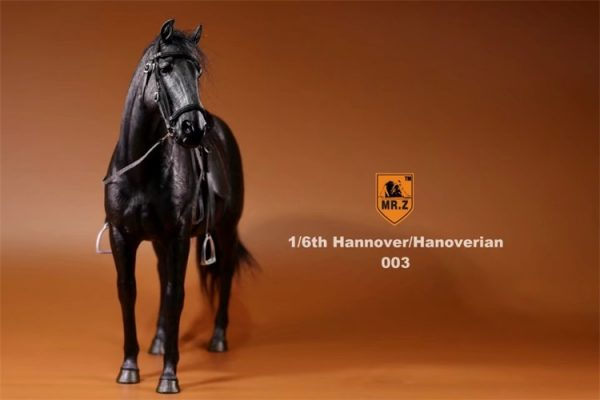 Black Color 1/6th Scale Model Hanoverian (Hannoveraner) Warmblood Horse, Playset, Animal Figures Horse, Action & Toy Horse
