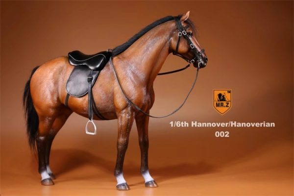 Brown Color 1/6th Scale Model Hanoverian (Hannoveraner) Warmblood Horse, Playset, Animal Figures Horse, Action & Toy Horse