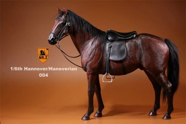 Jujube Color 1/6th Scale Model Hanoverian (Hannoveraner) Warmblood Horse, Playset, Animal Figures Horse, Action & Toy Horse