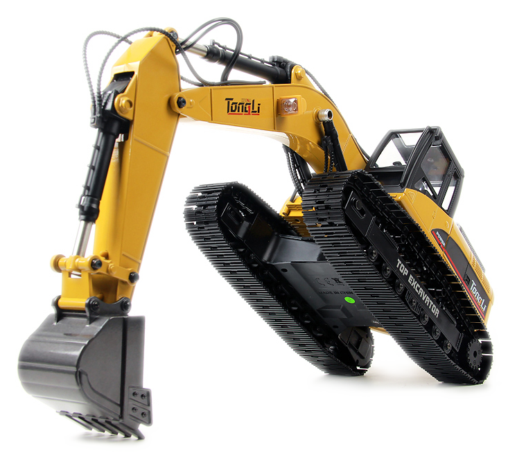 Alloy Electric RC Excavator Scale Model, 2.4GHz Radio Remote Control 23 Channels