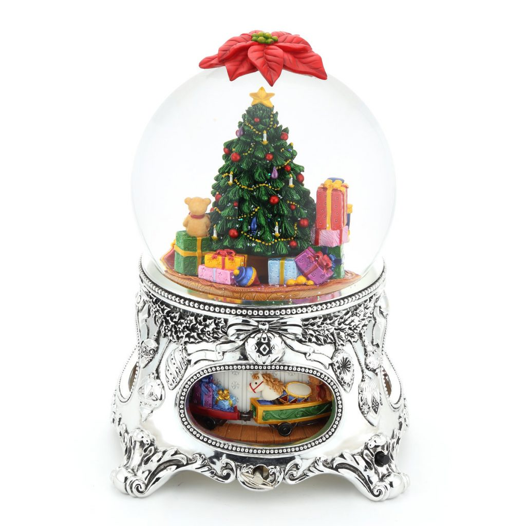 """O Tannenbaum"" Christmas Eve Snow Globe Music Box (Musical Box Water Globe / Snow Domes Christmas Present)"