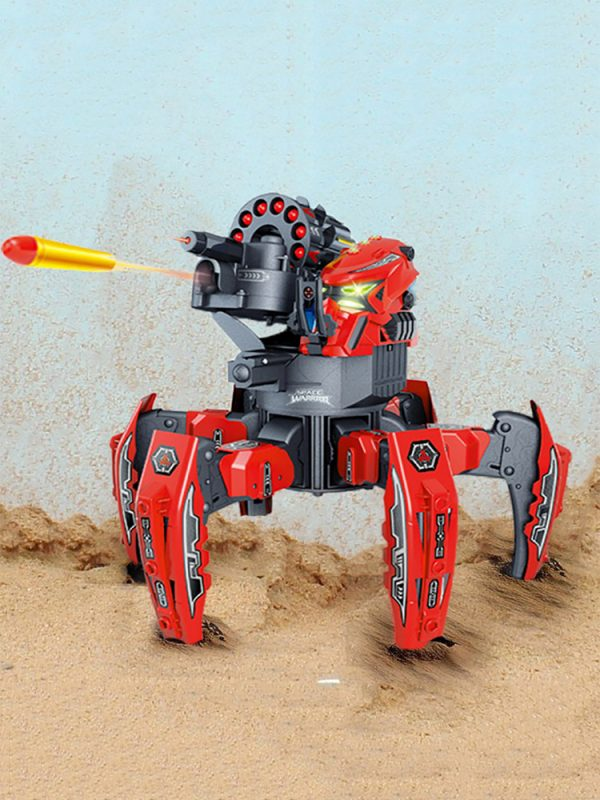 Science Fiction Future Combat Robot Toy, Remote Control Bionic Six-legged Walking Spider Attack Tank Battle Robot.