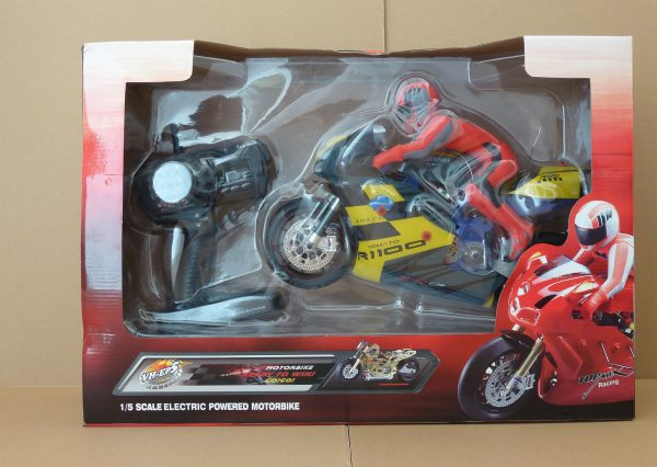 """Classic. - """"Thunder-Rider"""" - RC On-Road racing motorcycle. (Full-Metal Motorcycle Frame, 1/5 Scale, 2.4GHz Remote Control)"""