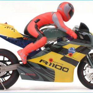 "Classic. - ""Thunder-Rider"" - RC On-Road racing motorcycle. (Full-Metal Motorcycle Frame, 1/5 Scale, 2.4GHz Remote Control)"