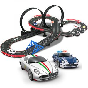 """3D Track Layout""- 6 Meters Track Length, Top-Racer AGM TR Series (TR-01) Slot Car Racing Set Kits. (1:43 Scale Indoor racing car toy)"
