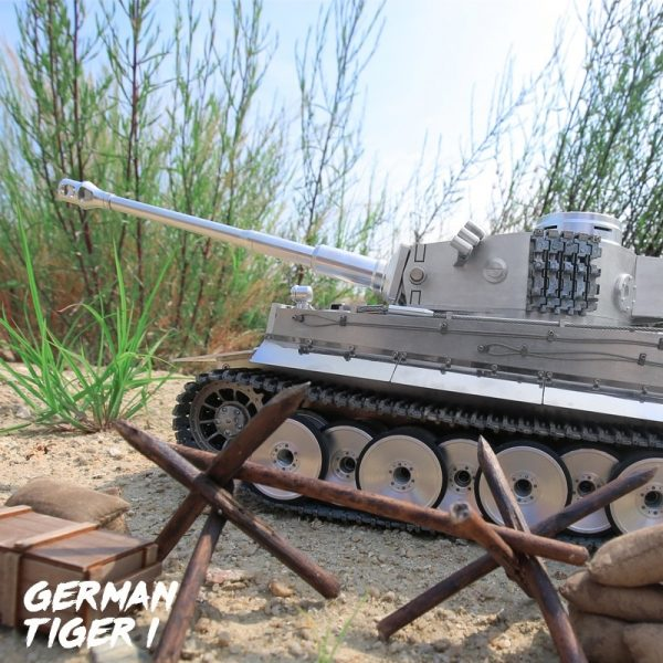 """-""""Full Metal RC Tank""""- Tiger I RC tank 1/16 Scale Model, CNC Precision Manufacturing, Stainless steel alloy, (Panzerkampfwagen VI Tiger Ausf. E RC Panzer)"""