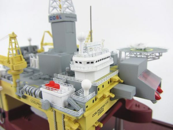 1:700 Scale Model COSL Prospector Deepwater Semi-Submersible Offshore Drilling Rig, Semi-Sub Drilling Ship Scale Model