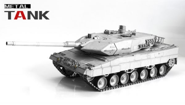 """Full Metal + Gun Stabilizer"" Leopard 2 A6 RC Tank, 1/16 Scale Model MBT (Main Battle Tank)"