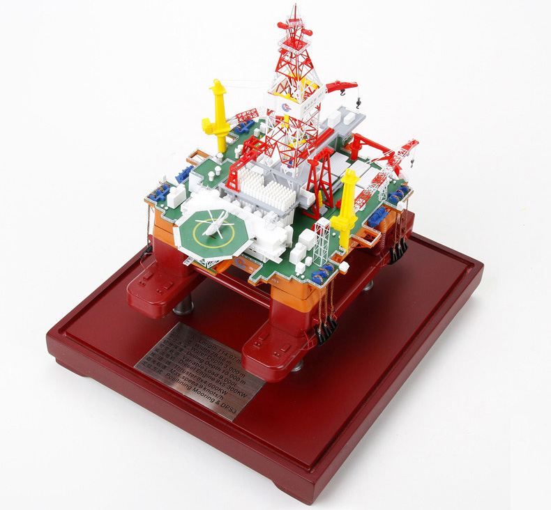 Hai Yang Shi You 981, Deepwater semi-submersible oil platform Scale Model, Ocean Oil 981 petroleum and natural gas offshore platform, offshore drilling rig Scale Model