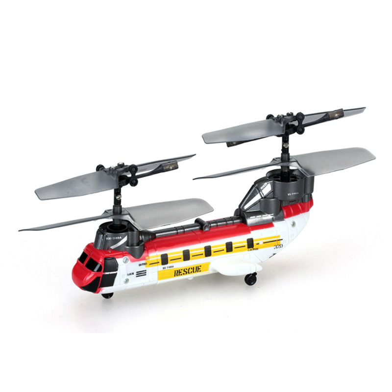 """Super Micro RC Helicopter"" Boeing CH-47 Chinook Tandem Rotor Super-mini Remote Control Scale Model Transport Helicopter."