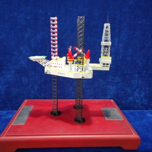 Jack Up Rig Scale Model, Jackup Drilling Rig Diecast Model, Offshore oil Platform Diecast Scale Model