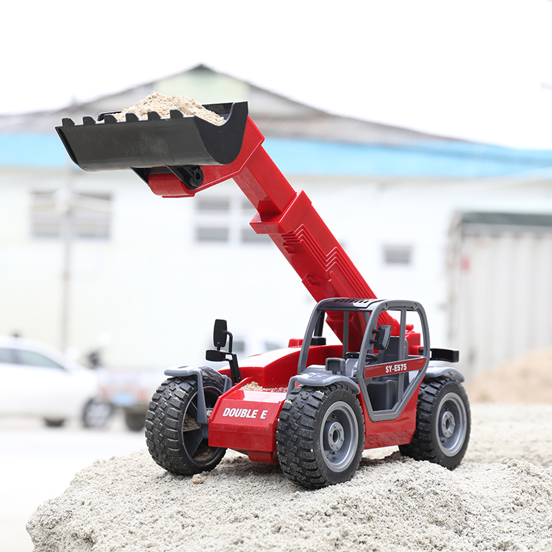 "-""Simulation RC Telescopic Loader""- Electric Remote Control Telescopic Forklift Toy (Construction Vehicle toy, Outdoor children's beach toy)"