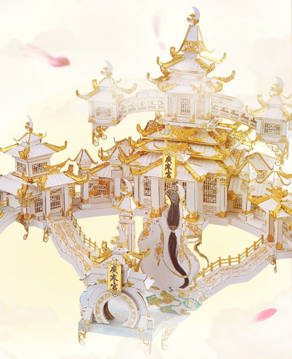 DIY Handmade Arts Crafts Decorations 3D Metal Puzzle Resplendent Magnificent Fairy Palace Beautiful Fairy Jigsaw Puzzle for Adults piececool THE MOON PALACE P143-WGK