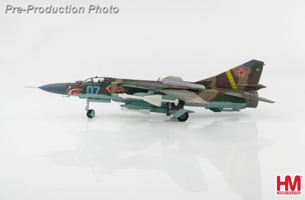 "Hobby Master Collector 1/72 Air Power HA5310 Soviet Air Force MIG-23MLD 2nd Squadron ""Aggressor"", Turkmenia, Nov 1990 (Military Airplanes Diecast Model, Pre-built Aircraft Scale Model)"