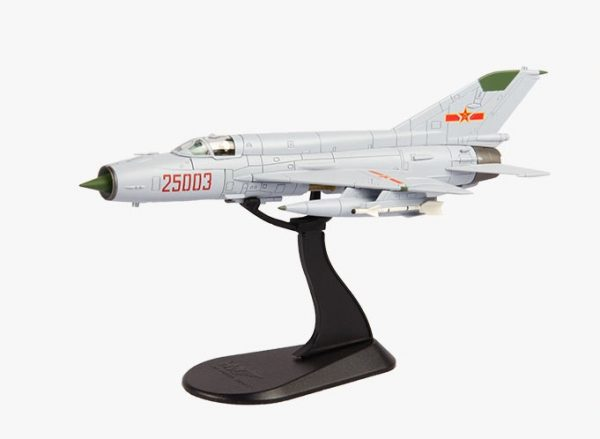 Hobby Master Collector 1/72 Air Power Series HA0199 Chengdu J-7IIIA China Air Force 25003 PLAAF Huairen Air Base 1997 (Military Airplanes Diecast Model, Pre-built Aircraft Scale Model)