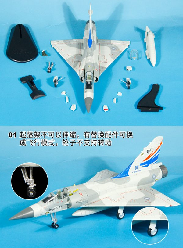 Hobby Master Collector 1/72 Air Power Series HA1615 Taiwan Air Force Mirage 2000-5 20 Yrs of Operation 2020/e120 ROCAF 2018 (Airplanes Diecast Model, Military Aircraft Scale Model)
