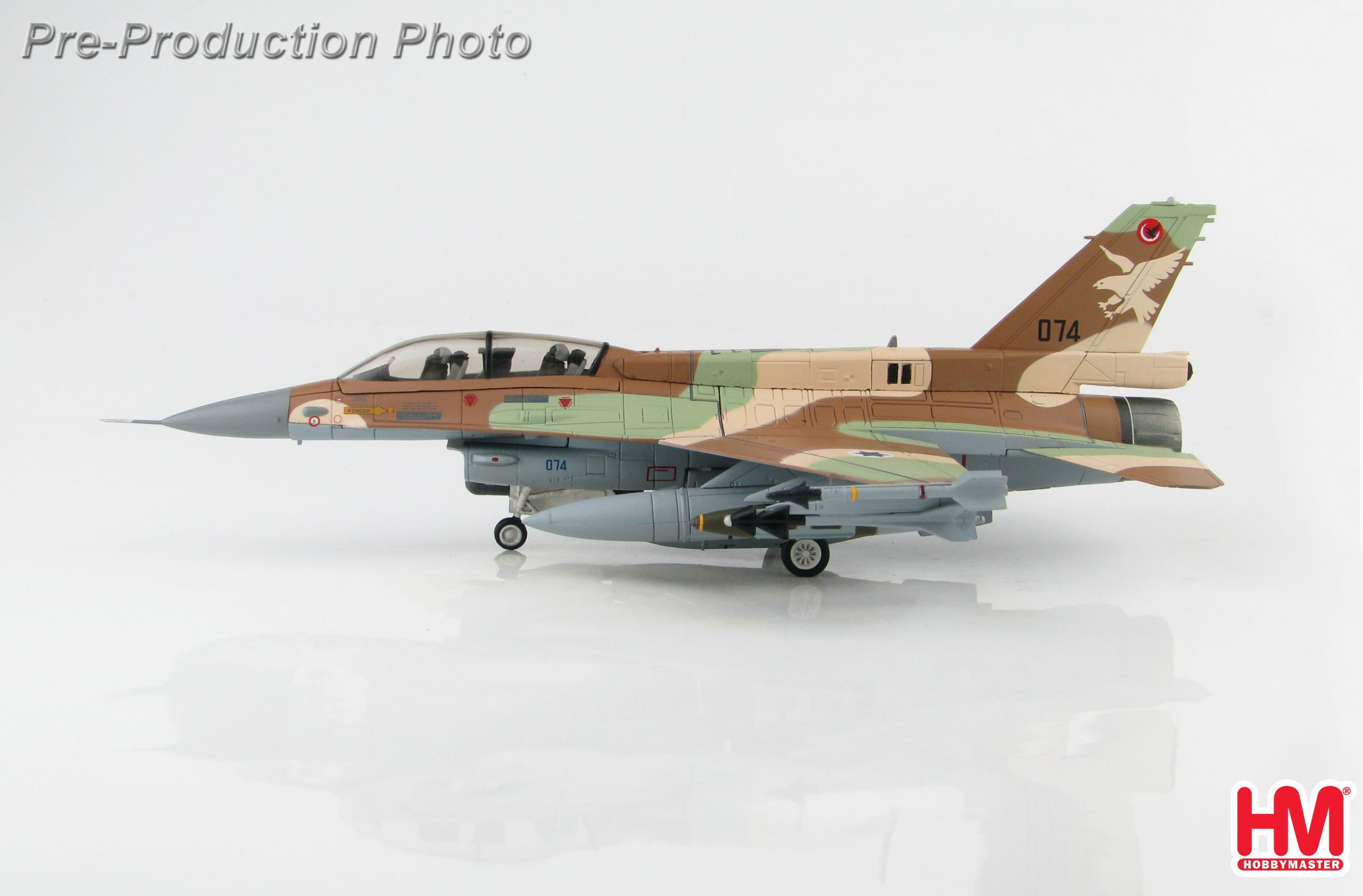 HOBBY MASTER HA3873 1//72 F-16D BARAK UAV KILLER 074 109 SQUADRON ISRAELI AF 2006