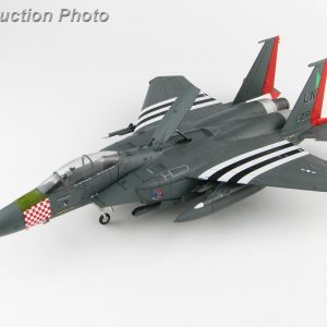 "Hobby Master Collector 1/72 Air Power Series HA4518 U.S. Air Force McDonnell Douglas F-15E Strike Eagle ""75th D-Day Anniversary scheme"" 97-0219, 492nd FS, RAF, 2019 (Airplanes Diecast Model, Military Aircraft Scale Model)"