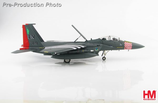"""Hobby Master Collector 1/72 Air Power Series HA4518 U.S. Air Force McDonnell Douglas F-15E Strike Eagle """"75th D-Day Anniversary scheme"""" 97-0219, 492nd FS, RAF, 2019 (Airplanes Diecast Model, Military Aircraft Scale Model)"""