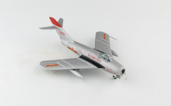 Hobby Master Collector 1/72 Air Power Series HA5907 J-5 Jet Fighter Red 2671, China Air Force (PLAAF), 1960s (Airplanes Diecast Model, Military Aircraft Scale Model)