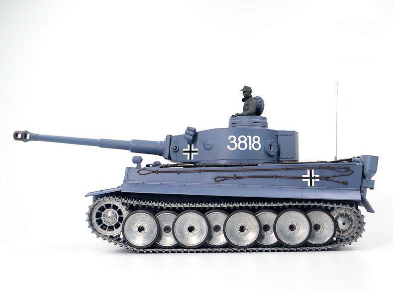 Heng-Long 3818-2 Tiger 1 RC Tank Metal Road Wheels, Metal Suspension System, Metal Caterpillar Track, Metal Sprocket Wheel, Metal Guide Wheel, Metal Gearbox Edition, 1/16 Tiger I Remote Control Scale Model Tank