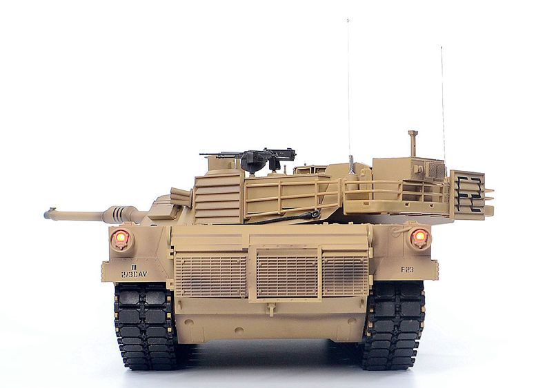 Heng-Long RC Metal Tank 3918 America M1A2 Abrams Main Battle Tank Metal Alloy Parts Remote Control Scale Model Tank Military Vehicle Toy War Weapon Toy