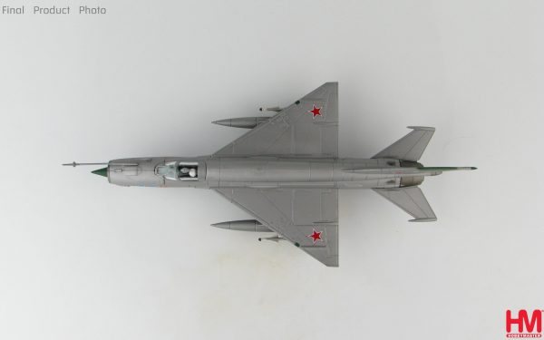 Hobby Master Collector 1/72 Air Power HA0195 Soviet Air Force Mikoyan-Gurevich MiG-21 Jet Fighter & Interceptor Aircraft, MIG-21SMT Blue 22, Krasnodar Higher Aviation Training Facility, Soviet Union ca 1980 (Military Airplanes Diecast Model, Pre built Aircraft Scale Model)