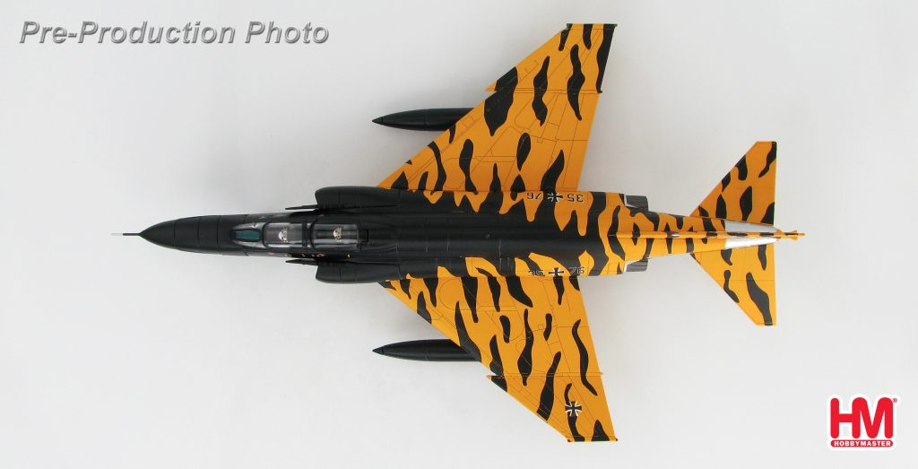 Hobby Master Collector 1/72 Air Power HA1984 McDonnell Douglas RF-4E Phantom II AG 52, NATO Tiger Meet, Kleine Brogel, Belgium,1985. McDonnell Douglas F-4 Phantom II supersonic jet interceptor and fighter-bomber (Military Airplanes Diecast Model, Pre built Aircraft Scale Model)