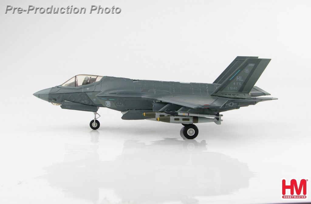 "Hobby Master Collector 1/72 Air Power HA4418 U.S. Air Force Lockheed Martin F-35 Lightning II Stealth Multirole Combat Aircraft, F-35A Stealth Multirole Fighter, 15-5140, 4th FS ""Fightin Fuujins"", Hill Air Force Base, Utah (Military Airplanes Diecast Model, Pre built Aircraft Scale Model)"