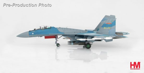 Hobby Master Collector 1/72 Air Power HA5703 Su-35 Flanker-E 61174, CCP Air Force. Russian Sukhoi Su-35 Flanker-E Multi-role air superiority fighter (Military Airplanes Diecast Model, Pre built Aircraft Scale Model)