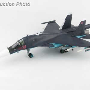 Hobby Master Collector 1/72 Air Power HA6302A Russian Air Force Sukhoi Su-34 Fullback Fighter-Bomber/Strike Aircraft, Red 21, Syria, 2015 (Military Airplanes Diecast Model, Pre built Aircraft Scale Model)