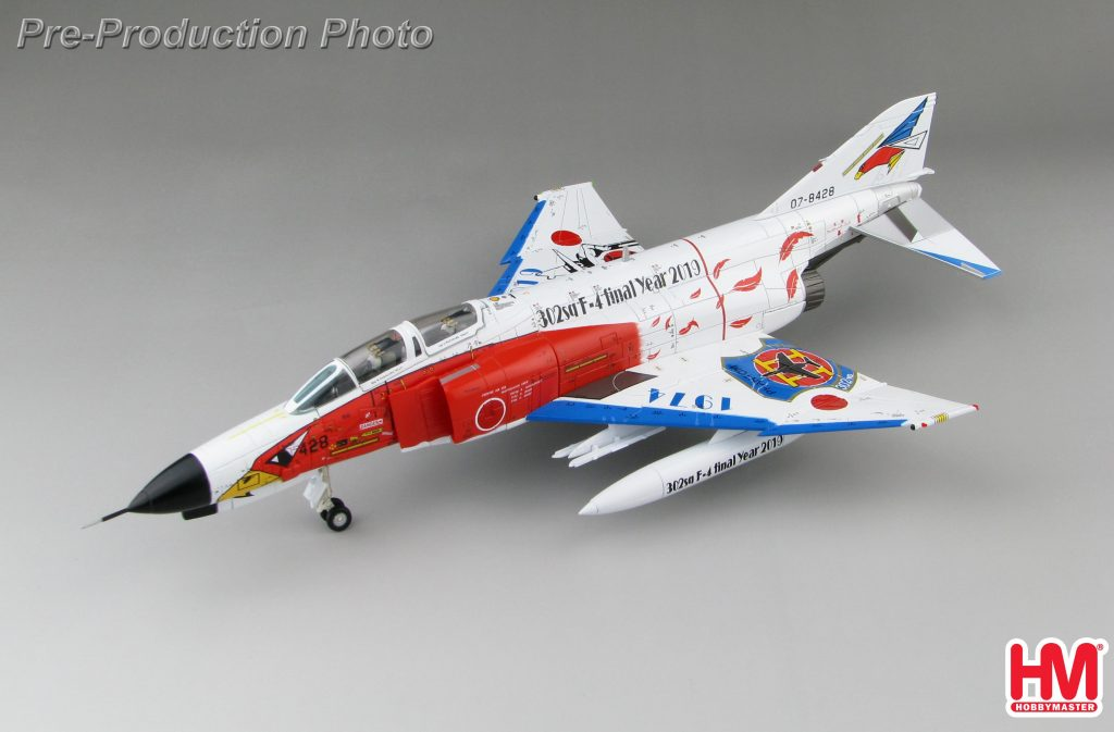 "Hobby Master Collector 1/72 Air Power HA19011 Japan Air Self-Defense Force McDonnell Douglas F-4 Phantom II Jet Interceptor and Fighter-Bomber , F-4EJ Kai ""302sq F-4 final Year 2019"" (white) (Military Airplanes Diecast Model, Pre built Aircraft Scale Model)"