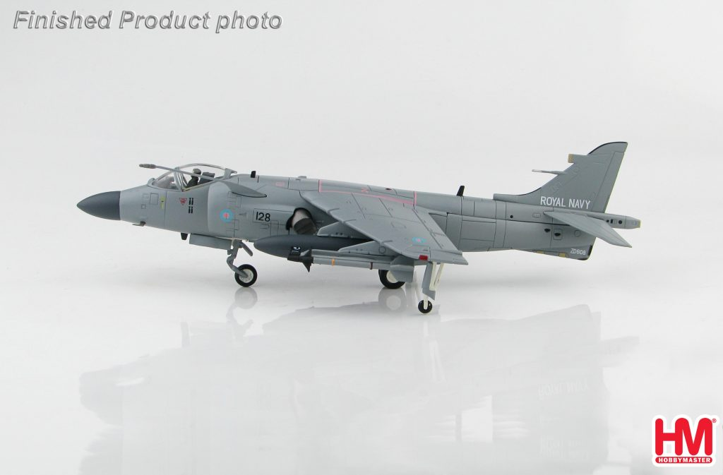 """Hobby Master Collector 1/72 Air Power HA4105 British Aerospace Sea Harrier Short Take-off and Vertical Landing/Vertical Take-Off and Landing Jet Fighter, FA2 V/STOL Strike Fighter, """"Operation Deliberate Force"""" No.800 NAS, Fleet Air Arm , HMS Invincible Mediterranean July 1995 (Military Airplanes Diecast Model, Pre built Aircraft Scale Model)"""