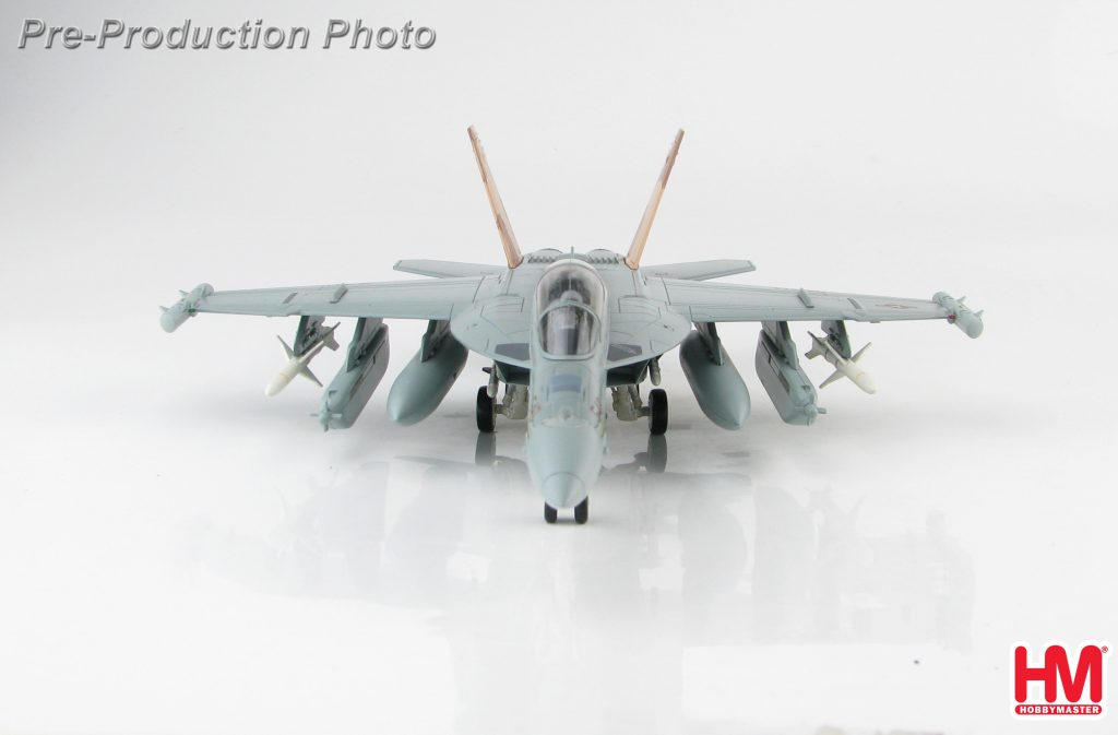 "Hobby Master Collector 1/72 Air Power HA5151 Boeing EA-18G Growler American Carrier-Based Electronic Warfare Aircraft, 166894, VAQ-132 Aviano AB, 2011 ""Operation Odyssey Dawn"" (Military Airplanes Diecast Model, Pre-built Aircraft Scale Model)"