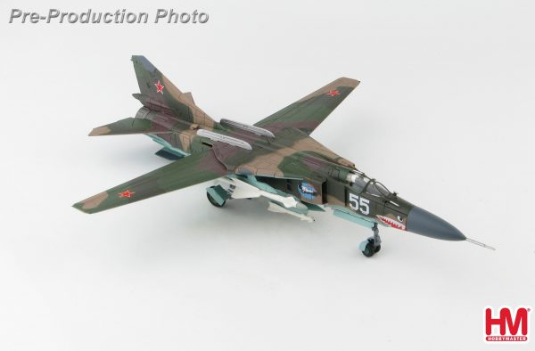 Hobby Master Collector 1/72 Air Power HA5309 Soviet Air Force Mikoyan-Gurevich MiG-23MLD Variable-Geometry Fighter Aircraft, White 55, 120 IAP, Bagram AB, Afghanistan 1989 (Military Airplanes Diecast Model, Pre built Aircraft Scale Model)
