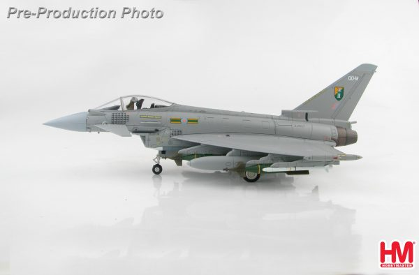 "Hobby Master Collector 1/72 Air Power HA6601 Royal Air Force Eurofighter Typhoon Air Superiority Multirole Fighter, ZJ927 ""QO-M"", 3 Sqn., RAF, Libya 2011 (Military Airplanes Diecast Model, Pre built Aircraft Scale Model)"
