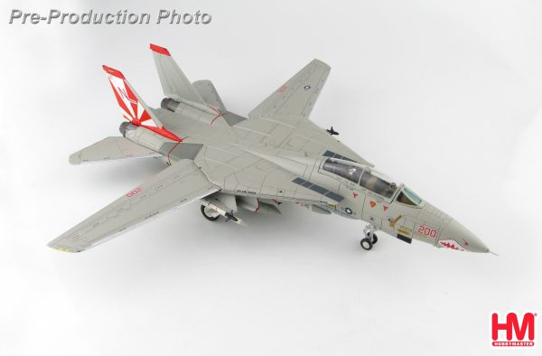 """Hobby Master Collector 1/72 Air Power HA5228 United States Navy Grumman F-14A Tomcat Interceptor & Air Superiority Variable-Sweep Wing Fighter """"Super CAG"""" 160660, VF-111 """"Sundowners"""", USS Carl Vinson, 1986 (Military Airplanes Diecast Model, Pre built Aircraft Scale Model)"""