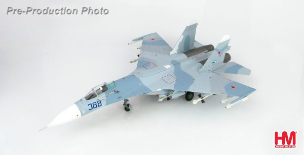 Hobby Master Collector 1/72 Air Power HA6003 Russian Air Force Sukhoi Su-27 Flanker Multirole Fighter, Air Superiority Fighter. B B388, Paris le Bourget, 1989 (Military Airplanes Diecast Model, Pre built Aircraft Scale Model)