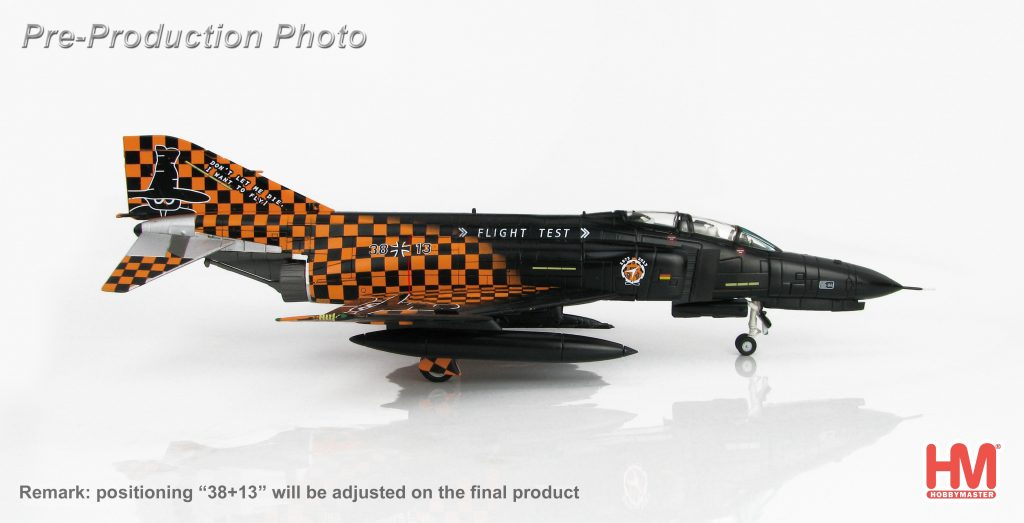 """Hobby Master Collector 1/72 Air Power HA1977 German Air Force McDonnell Douglas F-4F Phantom II 38+13 """"Final Flight"""", WTD-61 Manching AB, 2013. McDonnell Douglas F-4 Phantom II supersonic jet interceptor and fighter-bombe (Military Airplanes Diecast Model, Pre built Aircraft Scale Model)"""