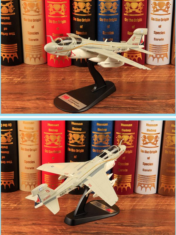 "Hobby Master Collector 1/72 Air Power HA5007 United States Navy Northrop Grumman EA-6B Prowler Electronic warfare Attack aircraft, 163890/AJ502, VAQ-134, June 2015 ""US Navy Farewell scheme (Military Airplanes Diecast Model, Pre built Aircraft Scale Model)"