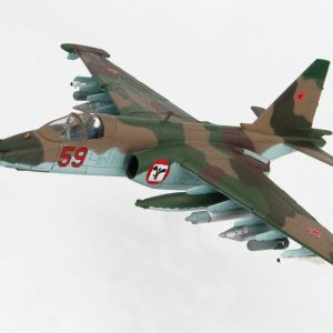 "Hobby Master Collector 1/72 Air Power HA6103 Soviet Union Sukhoi Su-25 Grach ""Frogfoot"" Close Air Support Jet Fighter. Red 59, 378. OShAP, VVS, USSR attached to air forces of the 40th Army, Bagram AB, Afghanistan 1986. (Military Airplanes Diecast Model, Pre built Aircraft Scale Model)"