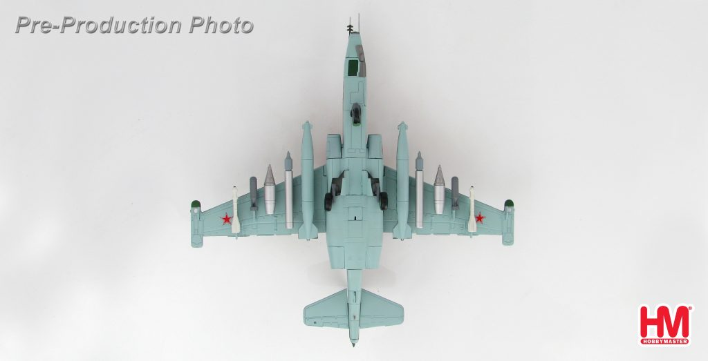 """Hobby Master Collector 1/72 Air Power HA6103 Soviet Union Sukhoi Su-25 Grach """"Frogfoot"""" Close Air Support Jet Fighter. Red 59, 378. OShAP, VVS, USSR attached to air forces of the 40th Army, Bagram AB, Afghanistan 1986. (Military Airplanes Diecast Model, Pre built Aircraft Scale Model)"""